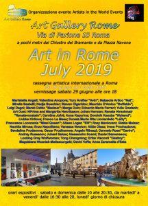 Art in Rome July 2019 locandina-rr